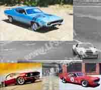 Muscle Cars Motive Backgrounds